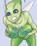 1girl anthro big_breasts breasts celebi mega_milk pokemon