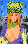 breasts comic_cover daphne_blake nipples scooby-doo topless zombie zombies