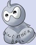 big_breasts blush breasts castform female mega_milk meme nintendo pokemon squish video_games