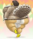 ass avian female morbidly_obese overweight solo turkey vdisco warm_colors