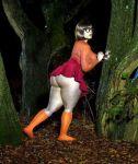 3d ass bottomless glasses miniskirt no_panties scooby-doo socks thighs velma_dinkley