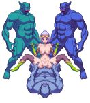 animated animated_gif bouncing_breasts breasts chijoku_no_troll_busters circlet defeated double_handjob elf gangbang girl_on_top gloves group_sex handjob large_breasts monster orc penis pixel_art pointy_ears ponytail rape red-p sex size_difference thick_thighs thighs troll vaginal