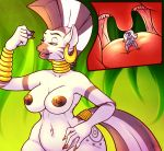 areola big_breasts breasts ear_piercing equine erect_nipples friendship_is_magic horn horse my_little_pony navel nipples nude piercing pony sheela size_difference trixie_(mlp) unicorn vorarephilia vore zebra zecora_(mlp)