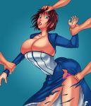 big_breasts bioshock bioshock_infinite breasts elizabeth sketchybehaviour torn_clothes