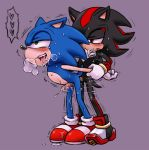 ♥ anal anal_penetration bent_over black blue blush chest_tuft cum cumshot cute doggy_position drool erection from_behind furry gay green_eyes hedgehog humanoid_penis karlo male orgasm panting penetration penis pleasure red_eyes red_markings saliva sex shadow_the_hedgehog sonic_(series) sonic_the_hedgehog sweat tail