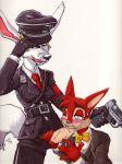 furry furzi gay male nazi nazifur oral partially_clothed totenkopf uniform yaoi