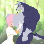 anthro artist_request dog estellise_sidos_heurassein furry imminent_sex love muscle muscular pink_hair princess repede sexy slut source_request tagme tales tales_of_(series) tales_of_vesperia