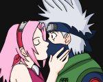 female kakashi_hatake kissing male naruto sakura_haruno tagme