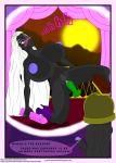 amaz amaz_(artist) big_breasts black_skin blue_eyes breasts duck_dodgers facial_markings markings marvin_the_martian nipples nude queen_tyr'ahnee white_hair