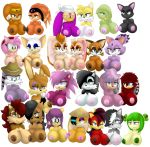 amy_rose animal_ears black_hair blaze_the_cat blue_eyes breasts brown_eyes bunnie_rabbot conquering_storm cosmo_the_seedrian cream_the_rabbit fiona_fox furry green_eyes green_hair hair huge_breasts julie-su marine_the_raccoon millie_tailsko mina_mongoose mother_and_daughter nic_the_weasel nicole_the_lynx nipples nude rouge_the_bat sally_acorn sega shade_the_echidna sisters smile sonia_the_hedgehog sonic_(series) tikal_the_echidna vanilla_the_rabbit