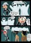 ass black_hair blood bottomless comic cosplay danny_fenton danny_phantom dustindemon embarrassing funny ghost gloves goth green_eyes hair halloween heart lab long_hair nosebleed samantha_manson short_hair smile surprise valerie_grey white_hair