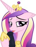 1boy 1girl alicorn erection female friendship_is_magic horn horsecock licking_penis looking_at_viewer male male/female my_little_pony oral penis pony princess_cadance three-tone_hair transparent_background