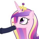 1boy 1girl alicorn erection friendship_is_magic horn horsecock imminent_fellatio male/female my_little_pony penis pony princess_cadance three-tone_hair transparent_background