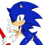 5_fingers alpha_channel anthro anus ass baton bent_over black_nose blue_fur fur furry grasp green_eyes happy hedgehog highres jetfrozen looking_at_viewer male nude one_eye_closed plain_background pointy_ears presenting presenting_hindquarters quills raised_arm sega shadow shiny smile solo sonic_(series) sonic_the_hedgehog standing teeth testicles transparent_background video_games