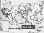2008 betty_rubble dino hanna_barbera julius_zimmerman_(artist) monochrome the_flintstones wilma_flintstone zimmerman