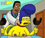 famous-toons-facial marge_simpson tagme the_simpsons yellow_skin