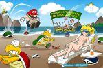 beach greenpeace mario nude nude peach princess super