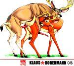 anal animal_sex bambi deer disney klaus_doberman klaus_doberman_(artist) white_background