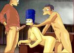 bart_simpson marge_simpson moe_szyslak simpsonsonly tagme the_simpsons yellow_skin