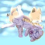 2013 anthro canine cat closed_eyes cub cum dog feline female freeflyspecter furry nude pussy tiger underwater_sex young