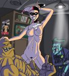 batman clayface cowgirl_position dc harley_quinn jojobanks jojobanks_(artist) middle_finger the_joker v