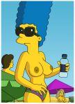 bikini_bottom breasts marge_simpson nipples sunglasses the_simpsons topless wvs