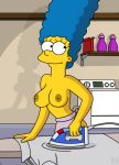 breasts marge_simpson nipples smile the_simpsons topless wvs