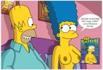 breasts homer_simpson marge_simpson nipples the_simpsons topless wvs