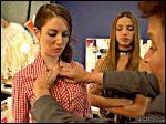alison_brie annie big_breasts bra breasts elise_gatien flash gif necklace open_shirt