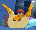 1girl ass chubby female female_only freckles glasses horny large_ass legs_up pussy scooby-doo shaved_pussy socks thighs velma_dinkley