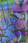 2girls anal anal_penetration double_penetration female_unicorn friendship_is_magic horn lumineko my_little_pony pony sex starlight_glimmer suspended_in_midair tail tentacle_sex tentacles trixie unicorn vaginal vaginal_penetration