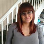 big_breasts cute glasses red_hair top