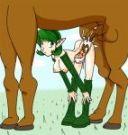 epona female jim_sugomi jim_sugomi_(artist) kokiri legend_of_zelda ocarina_of_time saria