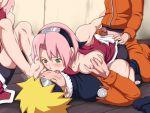 blonde_hair naruto naruto_uzumaki pink_hair sakura_haruno