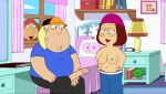 brother_and_sister chris_griffin family_guy gif guido_l lois_griffin meg_griffin semi_erection show_off voyeur