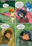 2boys 2girls ash ash_ketchum brock comic dawn female forest hetero male misty multiple_boys multiple_girls night nintendo outside pokemon pokepornlive wetdreams