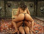3d 8muses anal_penetration ass big_breasts blackadder breasts comics double_penetration farah lesbian multiple_girls osira queen_opala slutty strap-on threesome vaginal_penetration watermark web_address
