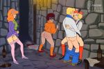 ass bottomless daphne_blake freddy_jones glasses legs_apart masturbation no_panties pants_down pantyhose_down pubic_hair pussy_juice scooby-doo sex thighs velma_dinkley