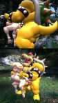 1girl ass balls big_ass big_breasts bowser breasts doggy_position from_behind_position happy_sex interspecies koopa large_male large_penis looking_pleasured male male_dominating nintendo penis pleasure_face princess_rosalina small_female straight super_mario_bros. thick_thighs tongue_out