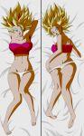 ass big_ass big_breasts breasts caulifla cleavage dakimakura dannyjs611 dannyjs611_(artist) dragon_ball dragon_ball_super dragon_ball_z female looking_at_viewer looking_back nipples saiyan solo super_saiyan