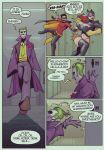 1boy 1girl ass batgirl batman_(series) breasts comic dc_comics devil_hs robin text