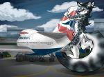 airliner airplane airport boeing_747 british_airways feline furry inanimate macro mechaphilia mechie penis sex snow_leopard snowll