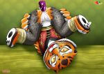 anal asking_for_it cum cum_in_ass dildo horny kung_fu_panda looking_at_viewer master_tigress palcomix rape_face smile tigeress
