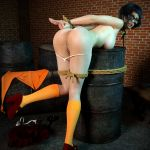 anus ass bondage breast glasses nipple nude pants_down rope scooby-doo shaved_pussy socks thighs thong velma_dinkley