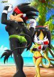 2_girls beach honey_the_cat mobius_unleashed palcomix pane_the_boar