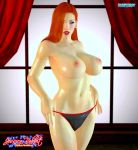 erect_nipples huge_breasts jessica_rabbit panties thighs topless who_framed_roger_rabbit