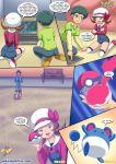1girl ash_ketchum comic lyra_(pokemon) palcomix pokepornlive wet_dreams_2.5_(comic)