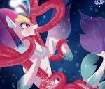 1girl female friendship_is_magic kuroran my_little_pony my_little_pony_the_movie nude oral oral_penetration pussy queen_novo seapony sex tail tentacle_sex tentacles underwater vaginal vaginal_penetration