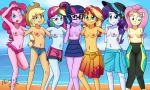 7girls applejack applejack_(mlp) beach breasts equestria_girls fluttershy fluttershy_(mlp) friendship_is_magic glasses half_naked horsecat looking_at_viewer multiple_girls my_little_pony outdoor outside pinkie_pie pinkie_pie_(mlp) rainbow_dash rainbow_dash_(mlp) rarity rarity_(mlp) standing sunset_shimmer sunset_shimmer_(eg) topless twilight_sparkle twilight_sparkle_(mlp)