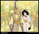 akabur_(artist) aladdin aladdin_(series) blush breasts dildo disney husband husband_and_wife nipples princess_jasmine pubic_hair pussy see-through smile tears teeth the_sultan wife